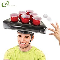 Inflatable Hat Kids Toy Floating Pong Game For Swimming Pool Party Supplies Beach Inflatable Toys Giant Beer Pong ZXH