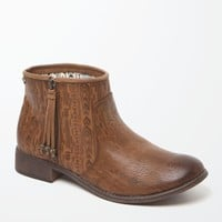 Roxy Sita Zip Ankle Boots - Womens Boots - Brown