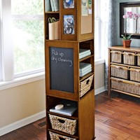 Swivel cabinet free standing shelves - storage tower | Solutions