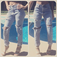 Vintage high waist or low rise destroyed by RepurposedApparel