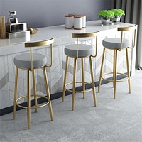 Attractive Bar Stool For Home Furniture  With Golden, Black & White Foot