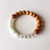 Good Fortune Intention Bracelet ~ Amazonite, Crystal Quartz & Sandalwood