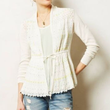 NWT ANTHROPOLOGIE by MOTH LAZULI DUSTED CARDIGAN M