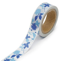 DARICE 1217-133 Washi Tape Roll, 5/8 by 315-Inch, Floral Silouett
