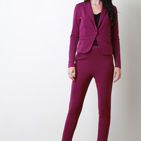 Crepe Tapered Suit Pants