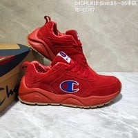 KUYOU C028 Champion x Casbia Awol Atlanta Leather Sneaker Ratro Casual Running Shoes Red