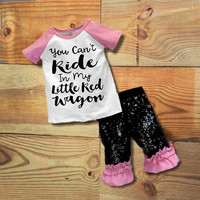 """""""You Can't Ride My Little Red Wagon"""" Sequin Outfit"""