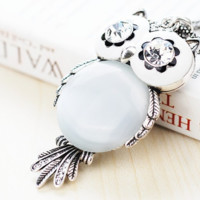 Sparkling Owl Pendant Necklaces