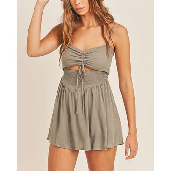 Fiona Front Cut Out and Smocked Romper in More Colors