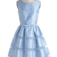 Dinner Party Darling Dress in Blue Bubbles