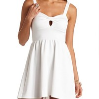 BOW-FRONT CUT-OUT SKATER DRESS