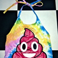 SWEET LORD O'MIGHTY! TIEDYE SHITTY HALTER
