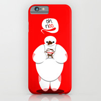 """Big Hero 6 Baymax Nutella """"Oh, no."""" iPhone & iPod Case by Snarky Shark"""