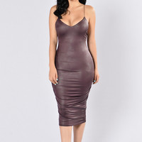 To The Point Dress - Purple