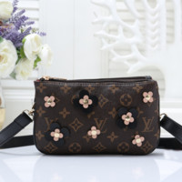 Louis Vuitton LV Women Fashion Leather Clutch Bag Tote Satchel