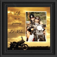 Bol Productions 6503LRSKY Motorcycle, Harley Davidson Picture Frame, Lets Ride Sky