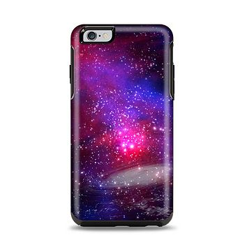 The Vivid Pink Galaxy Lights Apple iPhone 6 Plus Otterbox Symmetry Case Skin Set