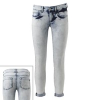 SO Bleached Out Skinny Jeans - Juniors