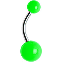 Green Neon Belly Ring | Body Candy Body Jewelry