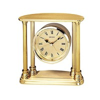 Seiko Brass Desk or Table Clock with Alarm