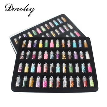 48 Bottles/Lot DIY Nail Art Charms Kit