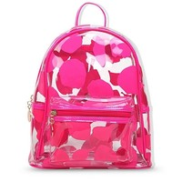 Triple Stone Candy Color Transparent Backpack Women Flower Clear Jelly Summer Beach Shoulder Bags Causal Travel Bagpack
