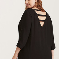 Georgette Strappy Back Blouse