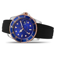 Rolex Fashion Men's and Women's Casual Business Splicing Color Watches