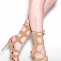 And That's A Strap Faux Suede Heels