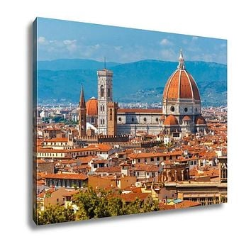Gallery Wrapped Canvas, Duomo Santa Maria Del Fiore In Florence Italy