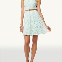 Lace Overlay Mini Tube Dress