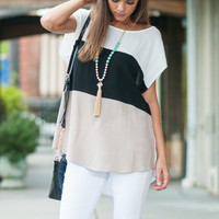 Hit The Road Top, Black-Taupe