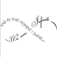 And in That Moment I Swear We Were Infinite -Perks of Being A Wallflower wall saying vinyl lettering home decor decal stickers quotes