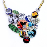 Comic Book Bib Necklace