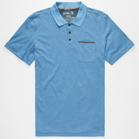Hurley Lagos Mens Dri-Fit Polo Shirt Blue  In Sizes