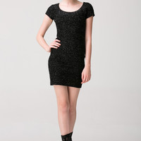 Black Casual Pencil Mini Dress