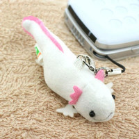Lovely Creature Living in Freshwater Plush Doll Cell Phone Strap (Axolotl /White)