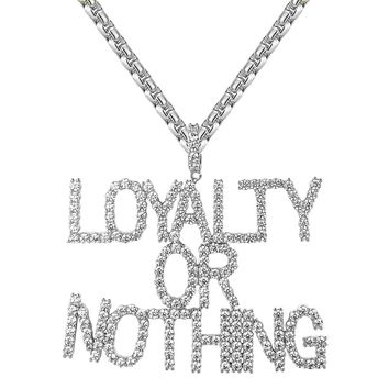 Solitaire Cluster Iced Out Loyalty Or Nothing Pendant Chain