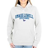 UMass Lowell River Hawks Ladies Team Arch Pullover Hoodie - White