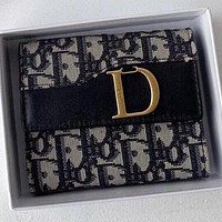 Dior New fashion more letter canvas wallet purse handbag