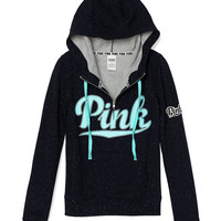 Perfect Half-Zip Hoodie - PINK - Victoria's Secret
