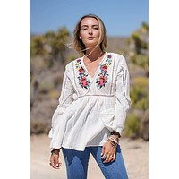 Mirasol Embroidered Top - White