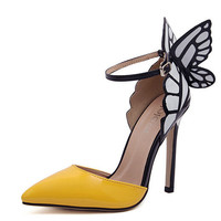 Fashion butterfly wing pointed shoes 6374XR