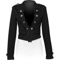 Gothic clothing shop: military short jacket for women