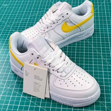 Air Force 1 Af1 Low White Yellow Women's Sneakers Shoes - Best Online Sale