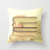 She Wrote Stories and Kept Them Quietly in Her Heart Throw Pillow by Olivia Joy StClaire