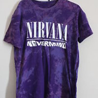 Purple Tie Dye Nirvana 'Nevermind' Band T Shirt SIZE 8-10