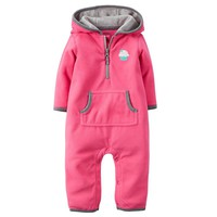 Carter's Cupcake Microfleece Hooded Coverall - Baby Girl, Size: