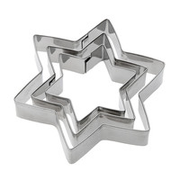 3pcs/set Stars Cookie Cutter Metal Biscuit Mold Fondant Decorating Tools Cooking Mold Cake Tools