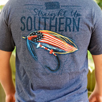 Red, White, And Bait 11736  Heather Navy SS
